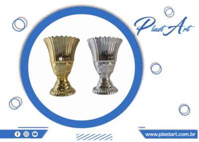 Vaso real metalizado prata vaso real metalizado dourado vaso decoração festas